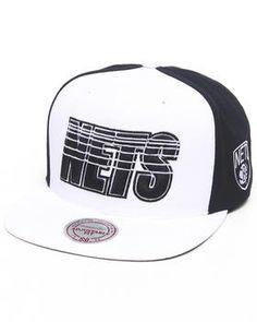 Brooklyn Nets NBA HWC Linear Snapback Hat by Mitchell & Ness