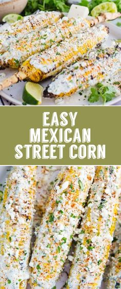 Easy Mexican Street Corn- this street corn is super easy to make on the grill and is the perfect side dish that everyone will enjoy! #summer #grilling