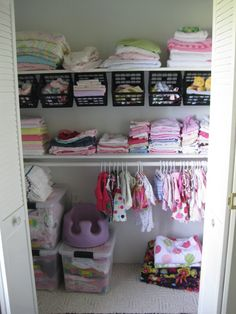 eek! I need to organize her closet. I could do so much with all the space