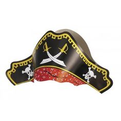 Pirate Party Hats Pack of 4 Pirate Party Supplies, Online Party Supplies, Pirate Day, Pirate Theme, Pirate Fancy Dress, Pirate Treasure Chest, Party Supply Store, Birthday Party Hats, Birthday Ideas