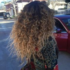 Image result for ombre curly hair