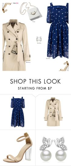 """NewChic"" by s-thinks ❤ liked on Polyvore featuring Burberry and ootd"