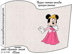 Minnie Princesa: Tarjetería para imprimir gratis, segunda parte.