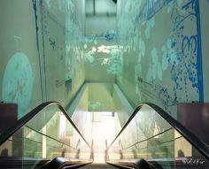 Stickers grands formats pour décoration murale sur mesure et #designmural centre commercial Docks 76 Unibail-Rodamco by  Mel et Kio