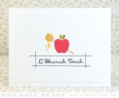 L'Shanah Tovah Card by Nichole Heady for Papertrey Ink (July 2015)