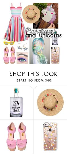 """""""Rainbows & Unicorns"""" by sskim2288 on Polyvore featuring Casetify and Quay"""