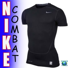 NIKE PRO COMBAT COMPRESSION DRI-FIT TEE SIZE XL BLACK 449792-010 NEW WITH TAGS #Nike #BaseLayers