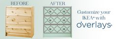 O'verlays decorative fretwork panels ~ I will find a way to use these in my new house! Love this product!