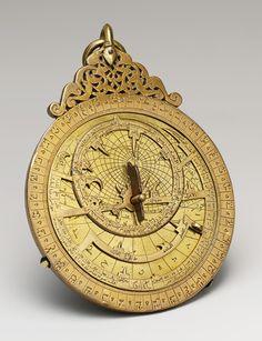 Astrolabe, 1291, Yemen, Pierced and engraved brass
