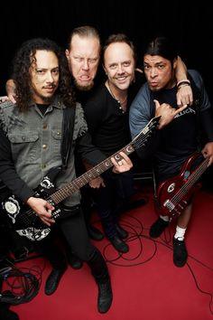 Hell YES! Kirk Hammett, James Hetfield, Lars Ulrich & Robert Trujillo
