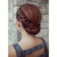 elegant braided updo