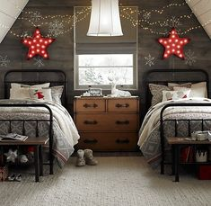 .Cute idea for the bunk house