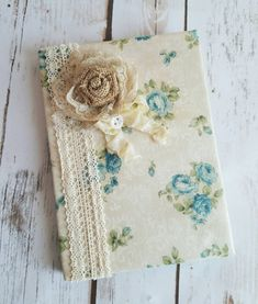 Vintage Roses Journal Shabby CHIC Notebook by ShabbyChicJCouture