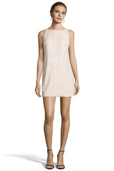 LAMBERT Low Back Shift Dress from Jay Godfrey.  SEQUINS   Low Back DRY CLEAN ONLY