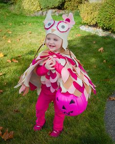 DIY toddler Owl Costume with tutorial