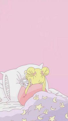 New wallpaper phone anime sailor moon ideas Soft Wallpaper, Cute Anime Wallpaper, Wallpaper Iphone Cute, Cute Cartoon Wallpapers, Animes Wallpapers, Wallpaper Backgrounds, Iphone Wallpapers, Emoji Wallpaper, 1080p Wallpaper