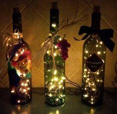Wine bottle Christmas lights