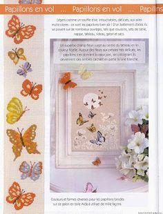 Free butterfly cross stitch pattern