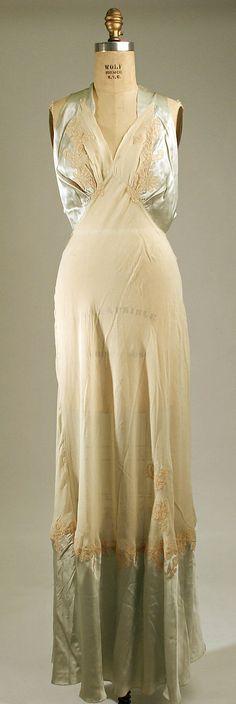 Nightgown  Date: 1940s Culture: American or European