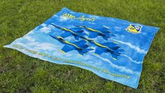 """BLUE ANGELS TOWEL FOR TWO Cotton Licensed US Navy Blue Angels Product Famous Brazilian Beach Towels !! 100% Cotton, Fiber Reactive, Print and Bright Colors, Velour Beach Towel Perfect for Beach and Outdoor Activities! Oversized Towel 58"""" x 74"""" Vulcano America is the ONLY authorized seller for this product in the USAOversized Towel 58"""" x 74"""" Weights 2.5 pounds (based on manufacture's information)"""