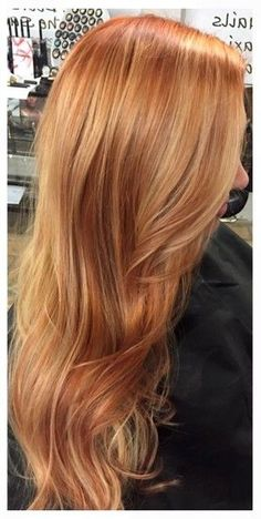 56 New ideas hair trends red blondes Ginger Hair Color, Strawberry Blonde Hair Color, Red Blonde Hair, Hair Color And Cut, Gray Hair, Copper Blonde Hair, Red Hair With Blonde Highlights, Blonde Color, Copper Hair Highlights