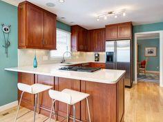Awesome 40 Amazing Cherry Wood Cabinets Kitchen https://homstuff.com/2017/06/21/40-amazing-cherry-wood-cabinets-kitchen/
