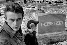 James Dean in Park Cemetery, Fairmount, Indiana, 1955. © Dennis Stock / Magnum Photos