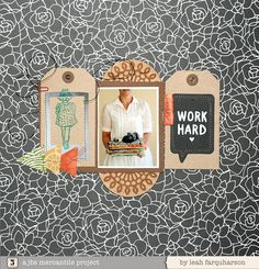 #papercraft #scrapbook #layout. Leah Farquharson for JBS mercantile November kits