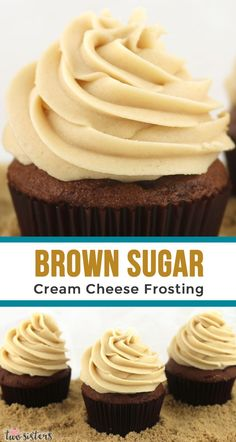 Brown Sugar Cream Cheese Frosting - a unique twist on a classic frosting that combines the tang of cream cheese with the flavor of cookie dough. This Fall Frosting is super delicious and so easy to make. Your family will beg you to make this b Chocolate Frosting Recipes, Homemade Frosting, Cookie Frosting, Homemade Chocolate, Easy Cupcake Frosting, Icing Frosting, Brown Sugar Frosting, Butter Cream Cheese Frosting, Cupcakes With Cream Cheese Frosting