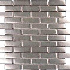 Stainless Steel Metal 1x3 Mosiac Sheets for Backsplash, Shower Walls, Bathroom Floors - Amazon.com 18.99