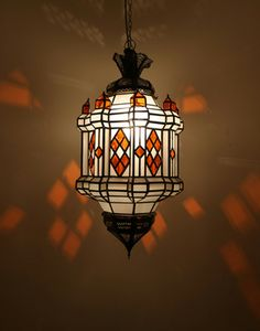 Moor moroccan multi coloured lantern pinterest moroccan floor moroccan glass hanging lantern aloadofball Images