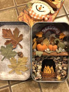 Tin Can Art, Tin Art, Jar Crafts, Diy And Crafts, Arts And Crafts, Altered Tins, Altered Art, Altoids Tins, Craft Club