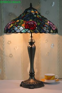 Rose Tiffany Lamp 16S0-206T246