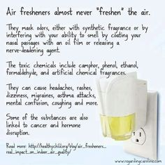 Eeeeewwww Febreeze, Glade and all the others.