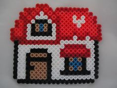 Red perler bead House by *PerlerHime on deviantART
