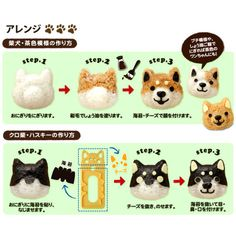Dog Faces Bento Lunchbox Art Set   Japan Trend Shop Cute Bento Boxes, Bento Box Lunch, Bento Lunchbox, Lunchbox Ideas, Bento Recipes, Lunch Box Recipes, Bento Ideas, Foods For Abs, Kawaii Bento