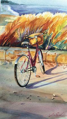 """Camond Beach""  #artforsale #bulgariananart #bulgarianartist #abulgarianartbuyers #findbulgarianart #bulgarianartcollectors #femaleartist #oilpaintingsforsale #buyoriginalart #onlineartmarket #acrylicpainting #watercolours #artbaazar"