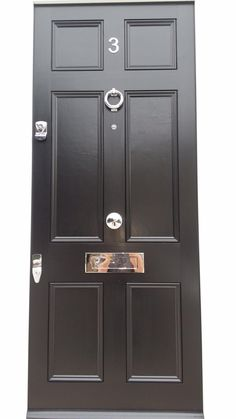 Bespoke door with door furniture. #security #doors #locks http://www ...