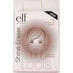 ELF Shine Eraser Oil Blotting Sheets - Ditch the powder!!! Super inexpensive and a quick fix for when you're feeling greasy.