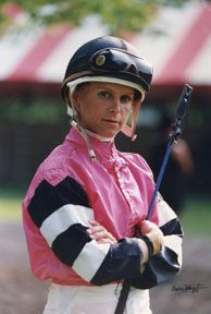 Julie Krone: b. 1963; Julie Krone is a retired American jockey. In 1993, she became the first female jockey to win a Triple Crown race when she captured the Belmont Stakes aboard Colonial Affair. In 2000 she became the first woman inducted into the National Museum of Thoroughbred Racing and Hall of Fame.