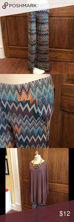 veronicam palaozza pants These soft palazzo pants in a colorful chevron print are super comfy! They have pockets too! Veronicam Pants Wide Leg