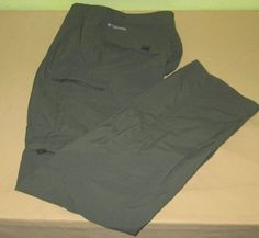 Men's COLUMBIA  Cargo Convertible Pants Shorts  Size 32 x 34 - Green - Nylon  #Columbia #Cargo