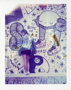 Jensine + Swampy   #swampdonkey #backpatch #williamsburg #streetart #film #polaroid