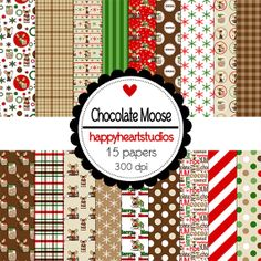 Digital Scrapbooking ChocolateMoose by azredhead on Etsy, $2.00