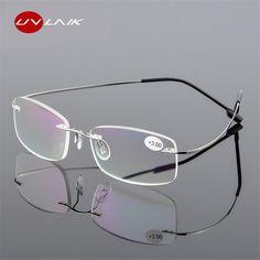 985f9e7cc8d UVLAIK Rimless Presbyopic Reading Glasses Ultra light Flexible Women Men  Frameless Diopter Reader Glasses 1 1.5 2 2.5 3 Review