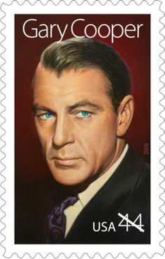 "Born May 7, 1901, Gary Cooper rose to fame in the height of Hollywood's ""Golden Age,"" stealing the spotlight as the all-American hero. His performance as Marshall Will Kane in the classic High Noon (1952) won Cooper his second Oscar. Cooper appeared on a stamp as part of the Legends of Hollywood series in 2009."