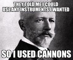 classical music humor | Rebel Tchaikovsky