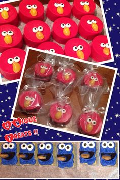Elmo & Cookie Monster Treats