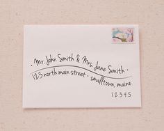 Hand Lettered Wave Address Printable Envelope Template from Swisstopher Robin                                                                                                                                                                                 More