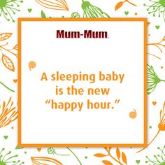 """""""Nobody make a sound. I can finally hear myself think."""" - Every parent ever when their baby is sleeping 😴 Sweet Sayings, Sweet Quotes, Baby Mum Mum, Mother And Father, Baby Sleep, Parenting, Words, Happy, How To Make"""